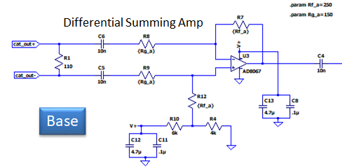 wideband loop base amplifier